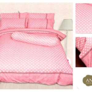 pink polka dots bed sheets set