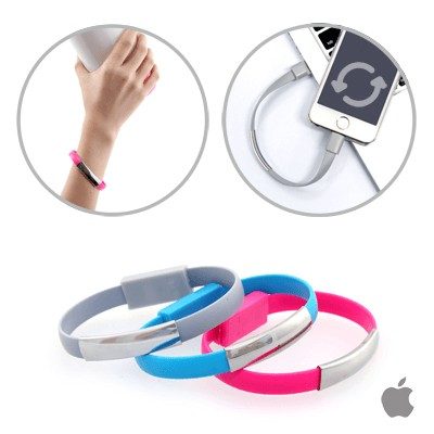 Bracelet Apple USB Cable Coral