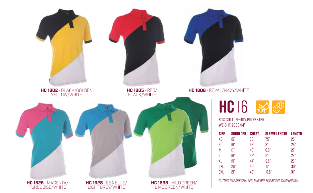 Colorful Polo Tee HC16