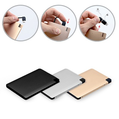 Slim Portable Charger Gold